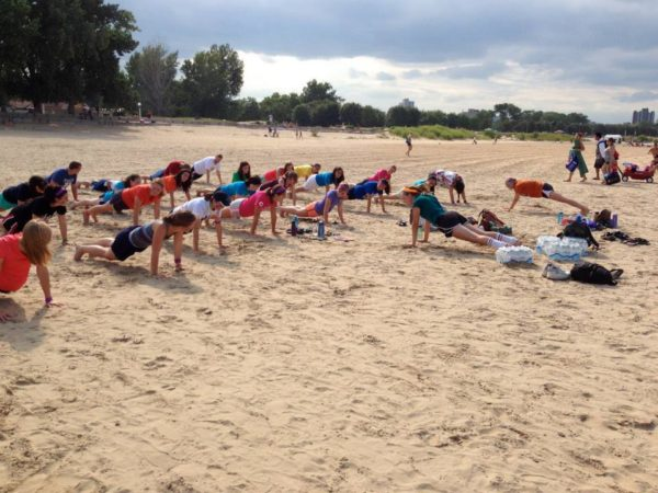 "For ""lacoga"" (aka beach yoga)"